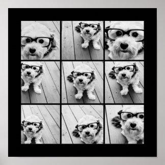 Collage de la foto de Instagram con 9 fotos Posters