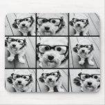 Collage de la foto de Instagram con 9 fotos Tapete De Ratón