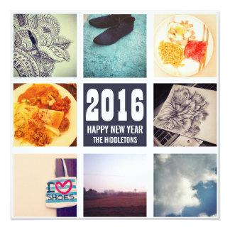 """Collage de la foto de Instagram de las memorias Invitación 5.25"""" X 5.25"""""""