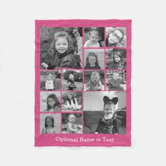 Collage de la foto de Instagram - rosa de hasta 14 Manta De Forro Polar