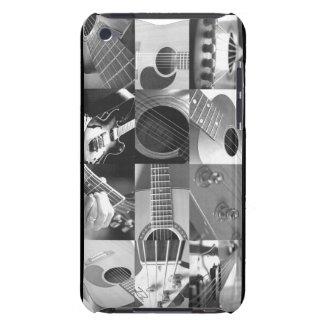 Collage de la foto de la guitarra - blanco y negro iPod Case-Mate carcasas