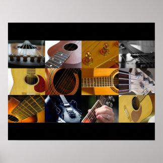 Collage de la foto de la guitarra posters