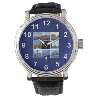 Collage de la foto de la imagen del horizonte 8 de reloj de mano