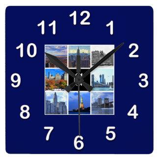 Collage de la foto de la imagen del horizonte 8 de relojes