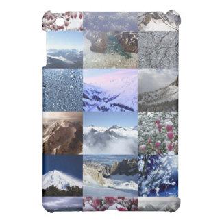 Collage de la foto de la nieve