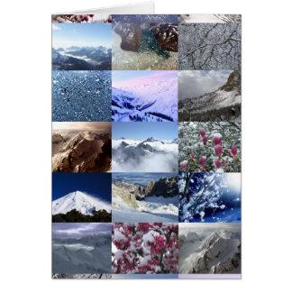 Collage de la foto de la nieve felicitaciones