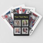 Collage de la foto de las Añadir-Su-Fotos 4 Cartas De Juego