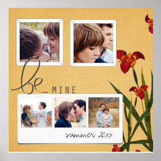 collage de la foto de los coupls del instagram póster