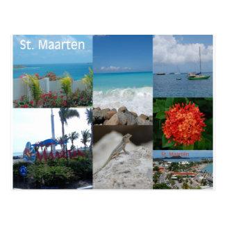 Collage de la foto de Maarten del santo por Tarjeta Postal