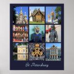 Collage de la foto de St Petersburg Rusia Impresiones