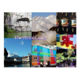 Collage de la foto de Suiza de Celeste Sheffey Tarjetas Postales