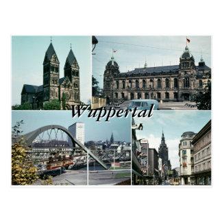 Collage de la foto de Wuppertal del vintage Postales