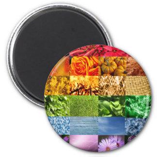 Collage de la foto del arco iris imán