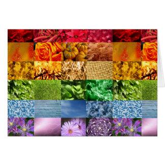 Collage de la foto del arco iris tarjeta de felicitación
