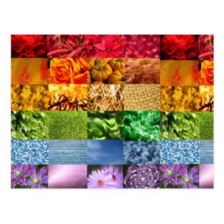 Collage de la foto del arco iris postales