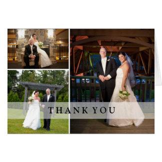 Collage de la foto del boda - gracias tarjetón