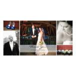 Collage de la foto del boda - gracias tarjetas fotograficas