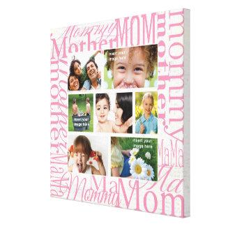 Collage de la foto del día de madre personalizada impresiones de lienzo