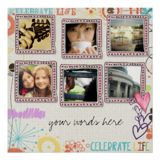 collage de la foto del instagram póster