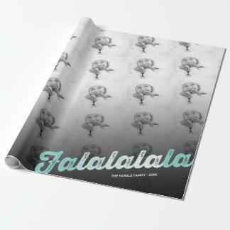 Collage de la foto del navidad de Falalalala de la Papel De Regalo