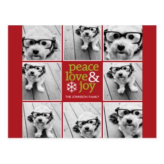 Collage de la foto del navidad de la alegría del a postales