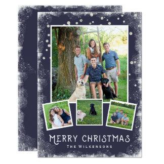 """Collage de la foto del navidad del país de las invitación 5"""" x 7"""""""