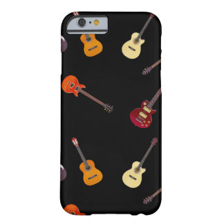 Collage de la guitarra acústica eléctrica y funda para iPhone 6 barely there