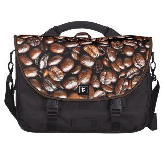 Collage de la haba entera de los amantes del café bolsas para portátil