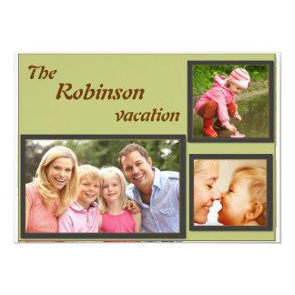 """Collage de la imagen de la familia invitación 5"""" x 7"""""""