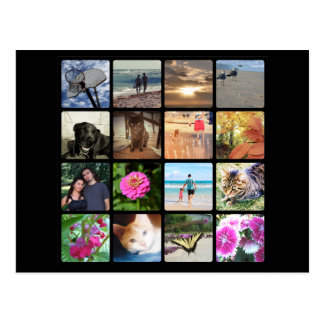 Collage de la imagen del mosaico de la foto del postales