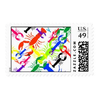 Collage de la langosta sellos