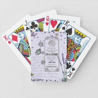 Collage de la lavanda del vintage cartas de juego