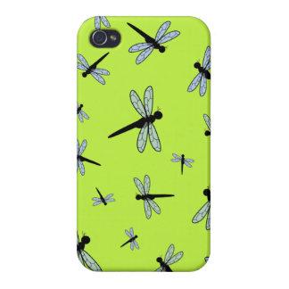 Collage de la libélula del vector (fondo verde) iPhone 4 protectores