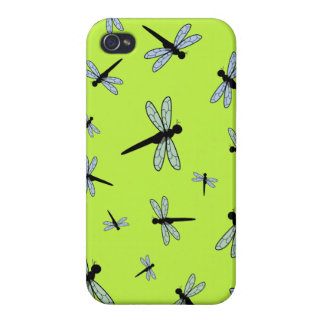 Collage de la libélula del vector (fondo verde) iPhone 4/4S carcasa