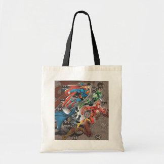 Collage de la liga de justicia bolsas de mano