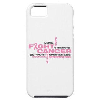 Collage de la lucha del cáncer de pecho iPhone 5 carcasa