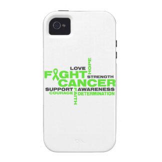Collage de la lucha del linfoma de Non-Hodgkins iPhone 4/4S Carcasa