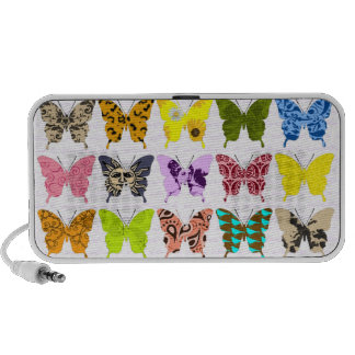 Collage de la mariposa altavoz de viajar