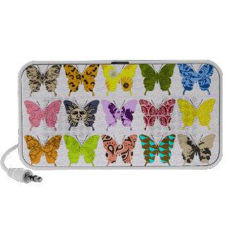 Collage de la mariposa portátil altavoz