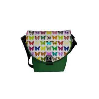 Collage de la mariposa bolsas messenger