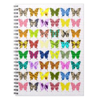 Collage de la mariposa libretas