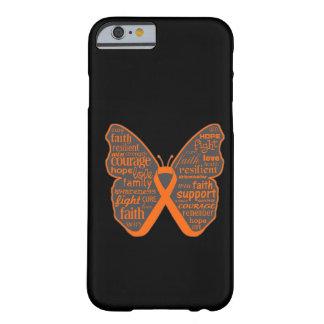 Collage de la mariposa de la leucemia de palabras funda de iPhone 6 barely there