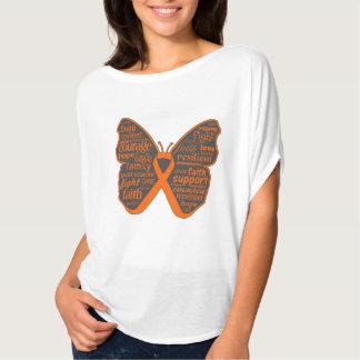 Collage de la mariposa de la leucemia de palabras remeras