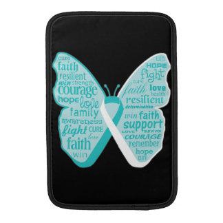 Collage de la mariposa del cáncer de cuello del funda para macbook air