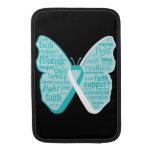 Collage de la mariposa del cáncer de cuello del út fundas macbook air