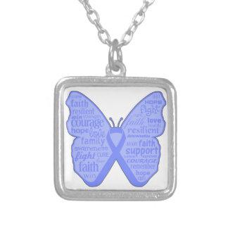 Collage de la mariposa del cáncer de estómago de p pendiente