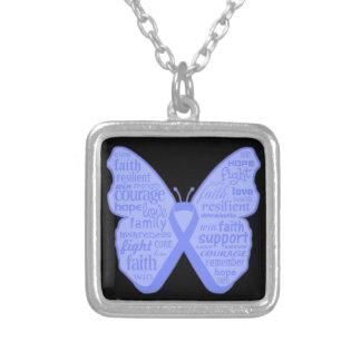 Collage de la mariposa del cáncer de estómago de p collares