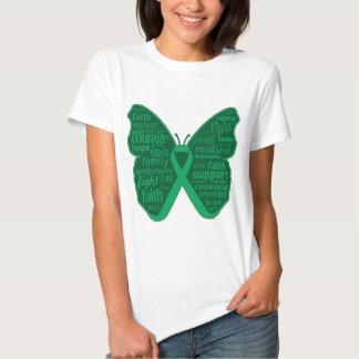 Collage de la mariposa del cáncer de hígado de remeras