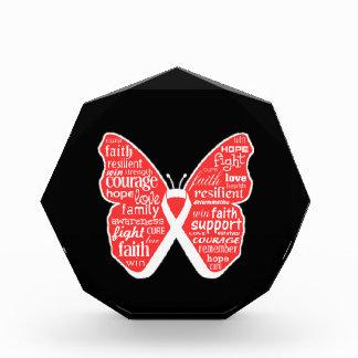 Collage de la mariposa del cáncer de pulmón de