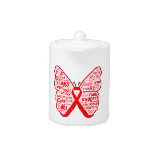 Collage de la mariposa del cáncer de sangre de pal